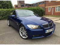 BMW 330i ///M SPORT MONTEAGO BLUE METALLIC FULLY LOADED 07 PLATE 270BHP LOOKS AND DRIVES SUPERB