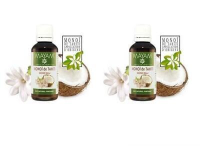 2X Monoi De Tahiti Aceite Original Fabuloso Piel Cabello Cuerpo Silky Natural