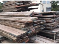 WOODEN SCAFFOLDING BOARDS Used rustic scaffolding boards we have 120 free delivery locally