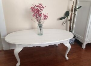 """Oval shabby chic coffee table 46""""x27""""x16.5"""""""