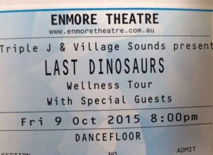 1 x Last Dinosaurs SYDNEY GA Ticket TONIGHT Enmore Theatre Pyrmont Inner Sydney Preview