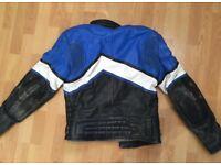 Old leather biker jacket M