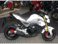 HONDA MSX 125 FOR SALE 16 MILES ON CLOCK MINT CONDITION WHITE AND GOLD