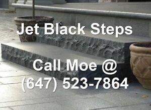 Jet Black Steps Jet Black Granite Outdoor Steps Front Stone Step