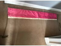 2 John Lewis Pink and Cream Roman Blinds