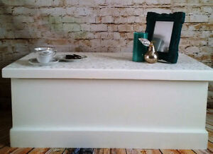 SALE; Hand Painted Blanket Box and Side Tables