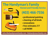 Handyman, Renovations, Great professional services, Fair price