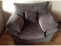 Oak Furniture Grey Chloe Armchair- New and unused