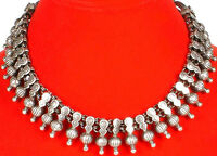 Antiquated Sterling Silver Ethnic Mughal Necklace