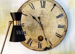 Clock Wall Mount Round Large Vintage Roman Numerals Kitchen Office Home Decor
