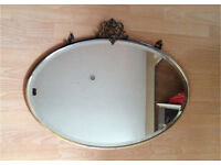 Metal Framed Art Deco Wall Mirror