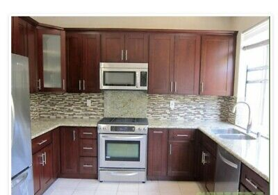 Solid Cherry Shaker style framed kitchen cabinets
