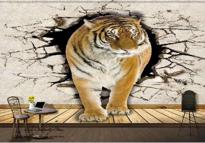 3d tiger linien 0210 fototapeten wandbild fototapete bild. Black Bedroom Furniture Sets. Home Design Ideas