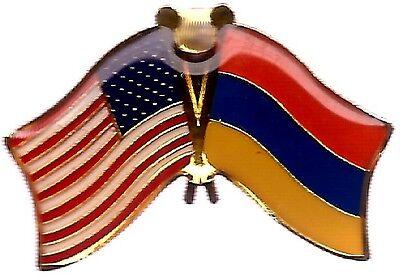 LOT OF 3 Armenian Friendship Flag Lapel Pins - Armenia Flag Pin