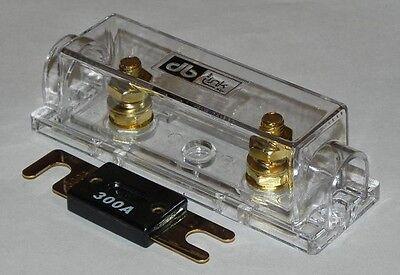 DB Link 0 / 4 / 8 Gauge Gold Bolt Terminal ANL Fuse Holder + 300 Amp ANL Fuse