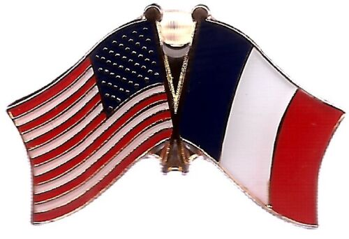 LOT OF 12 France Friendship Flag Lapel Pins - France Crossed Flag Pin