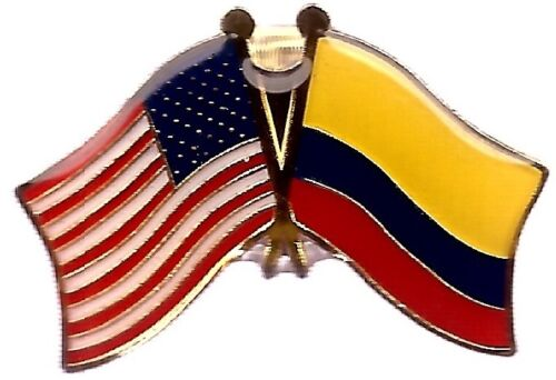 LOT OF 12 Colombian Friendship Flag Lapel Pins - Colombia Flag Pin