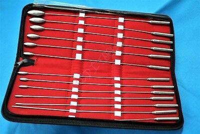 New German Ste Set Of 13 Pc Bakes Rosebud Dilators Urethral Surgical Instruments