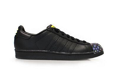 Herren Adidas Superstar Pharrell Supersh - S83352 - schwarz gelb Turnschuhe ()