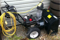 """Conquer The Snow This Year! Mint Condition 28"""" Snowblower!"""