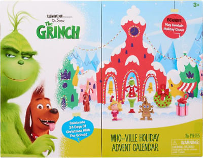 * SOLD OUT!* DR. SEUSS GRINCH WHO-VILLE HOLIDAY ADVENT CALENDAR WITH FIGURINES