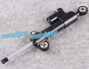 UNIVERSAL MOTORCYCLE ADJUSTABLE BLACK STEERING DAMPER STABILIZER TOP QUALITY