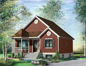 NEW $57,500 2 BED COTTAGE 1 BATH 845 CONSTRUCTED ON YOUR LOT