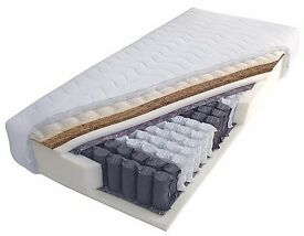 Super kingsize pocked sprung mattress with coconut insole..
