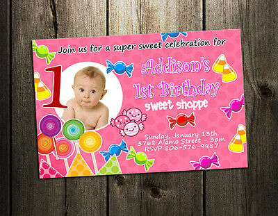 Candyland Baby Shower (CANDYLAND LAND CANDY BIRTHDAY PARTY INVITATION CUSTOM 1ST BABY SHOWER)