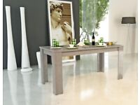 Jesi, Extendable Dining Table in Grey Larch Wood Effect Finish RRP £449.99 50% OFF