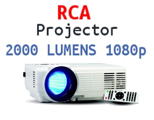 NEW RCA RPJ116 1080P LED HOME THEATER PROJECTOR HDMI 1080P u