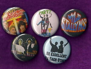 BILL-AND-TEDS-EXCELLENT-ADVENTURE-Pins-Buttons-Badges-Cult-Film-1980s