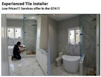 Experienced Tile Installer/Setter - Low Prices!!! (289) 814-6348