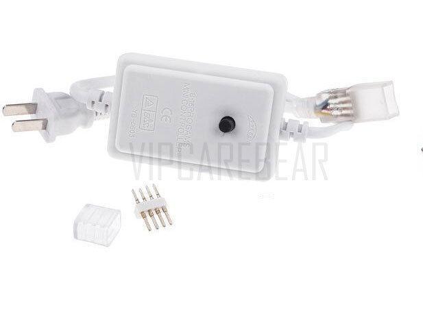 Control 3ft-147ft 110V 3528 RGB Color SMD 60 LED//M Strip Rope Light Waterproof
