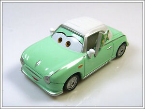 ## Nissan FIGARO 1/55 DieCast Model Close Emerald Pixar Cars Disney, Mattel RARE