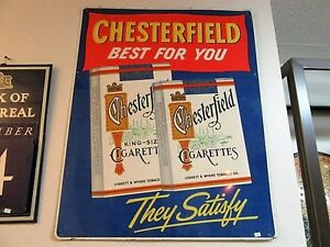 Vintage Chesterfield Metal Sign