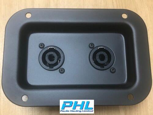 Penn Elcom Recessed Connector Dish C/W 2 x Neutrik NL4MP SpeakOn Connectors