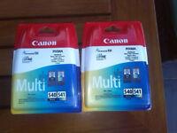 Canon 540/541 Multi printer cartridges (2)