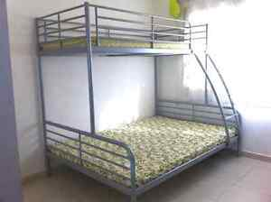 Bunk beds single over double