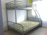 Ikea Silver Metal Triple Sleeper Bunk Beds
