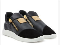 Giuseppe Zanotti Black leather and Suede Runner Trainers