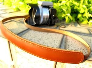 Real-Leather-shoulder-strap-for-canon-sony-nikon-olympus-panasonic-DSLR-Camera