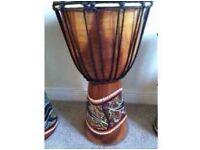 Wooden bongo drums x 3
