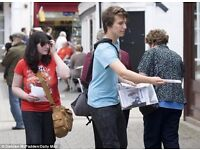 Hand to Hand Leaflet Distribution [Euston Station]