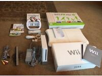 Wii games console & Wii fit board