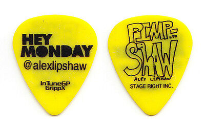 Hey Monday Alex Lipshaw Signature Yellow Guitar Pick - 2009 Tour