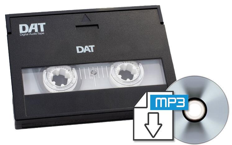 DAT  Digital Audio Tape to CD or WAV files Transfer Copy Convert Service