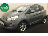 £144.47 PER MONTH SILVER 2016 FORD KA 1.2 ZETEC 3 DOOR PETROL MANUAL