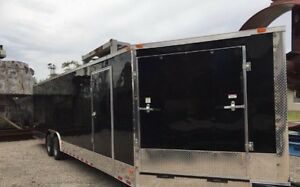 Brand New 8.5x28 Ft Enclosed Snowmobile/Car Trailer