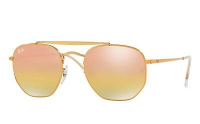 Ray-Ban RB3648 9001I1 Marshal Sunglasses with Metal Frame & Pink Gradient Lenses